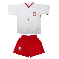 Komplet: Koszulka + spodenki kibica, piłkarskie,dziecięce replika PAZDAN