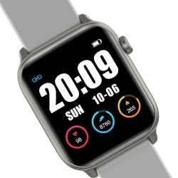 Zegarek SMARTWATCH RNCE56 iOS Android  + USB RUBICON Srebrny