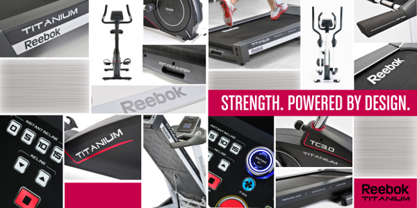 Bieżnia treningowa, elektryczna TITANIUM TT 3.0 Reebok Fitness