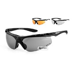 Okulary sportowe, przeciwsłoneczne BIKER S-30B + 2 pary szkieł Arctica
