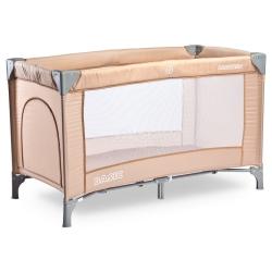 Łóżeczko dziecięce, turystyczne, składane 0-15kg BASIC beżowe Caretero