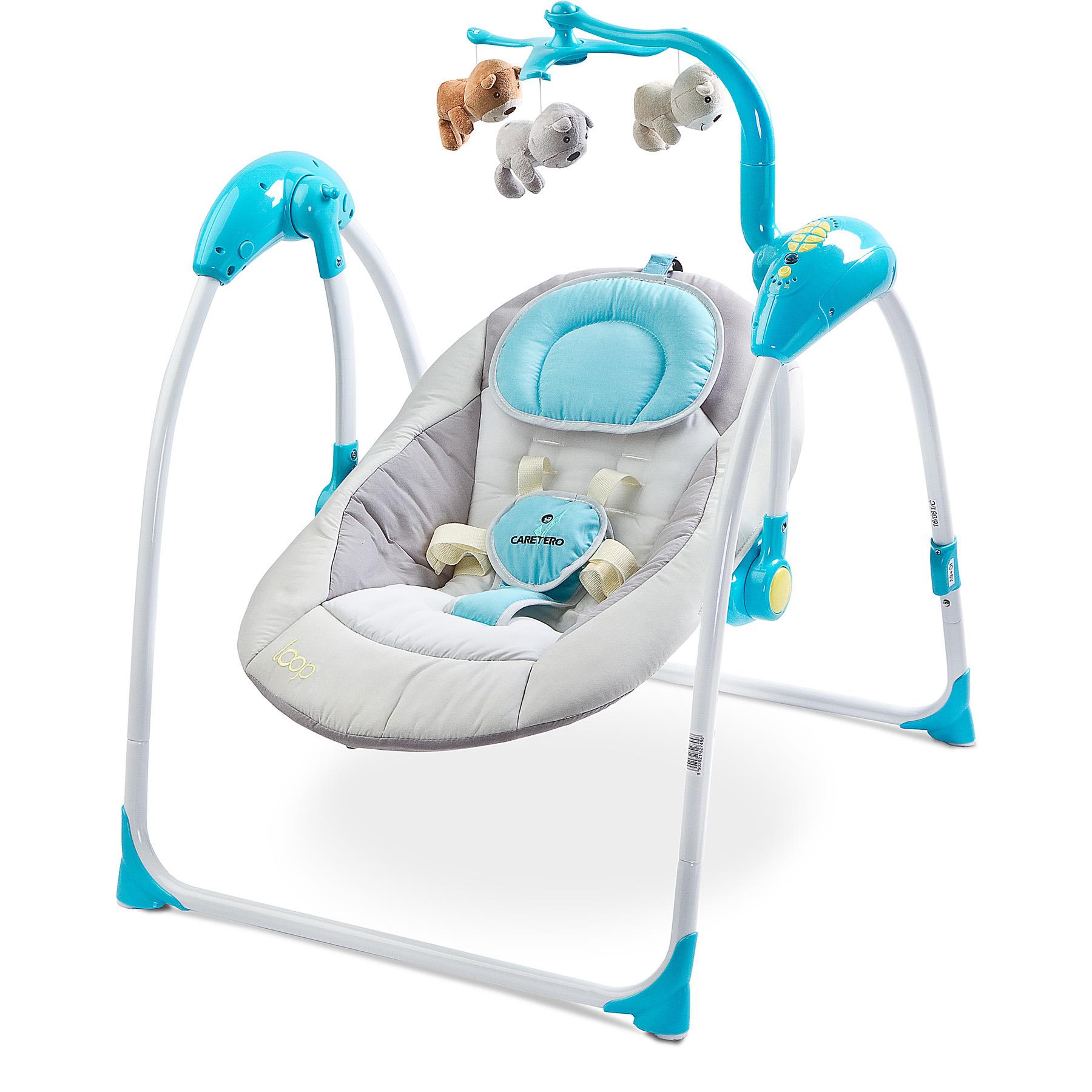 Elektrische Babywippe Babyschaukel Babysitz Wippe Schaukel LOOP BLUE ...
