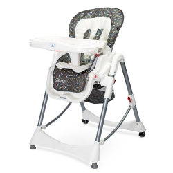 Krzesełko do karmienia BISTRO grafitowe Caretero