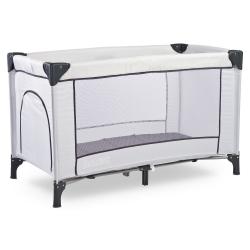Łóżeczko dziecięce, turystyczne, składane 0-15kg BASIC popielate Caretero