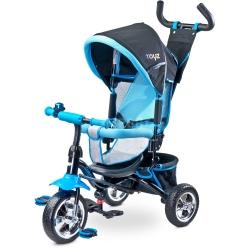 Rowerek dziecięcy, 3-kołowy, rozkładana budka, 3-5 lat TIMMY niebieski Toyz