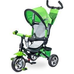 Rowerek dziecięcy, 3-kołowy, rozkładana budka, 3-5 lat TIMMY zielony Toyz