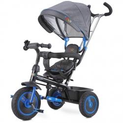 Rowerek 3-kołowy z rączką, daszkiem, trójkołowiec BUZZ granatowy Toyz