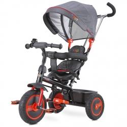 Rowerek 3-kołowy z rączką, daszkiem, trójkołowiec BUZZ czerwony Toyz