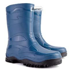Buty gumowe, kalosze damskie/młodzieżowe YOUNG niebieskie Demar