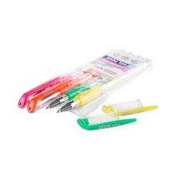 Długopis żelowy fluorescencyjny ŻELOPIS 4 kolory neonowe FLUO Easy