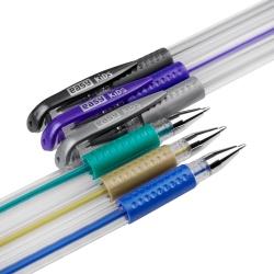 Długopis żelowy metaliczny ŻELOPIS 6 kolorów metaliczne METAL Easy