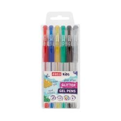 Długopis żelowy z brokatem ŻELOPIS 6 kolorów 1,0 mm GLITTER Easy