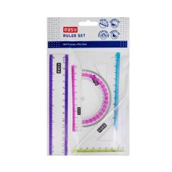 Zestaw kreślarski 15 cm 4 elementy kolor Easy
