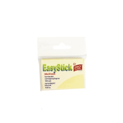 Karteczki samoprzylepne żółte 38x51 mm Easy EasyStick