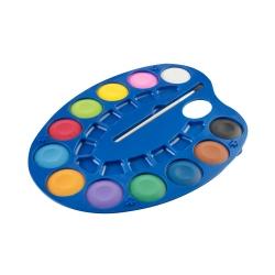 Farby akwarelowe 12 kolorów 4cm na palecie Easy