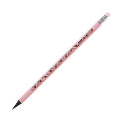 Ołówek trójkątny z gumką różowy pastelowy Easy