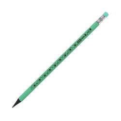 Ołówek trójkątny z gumką zielony pastelowy Easy