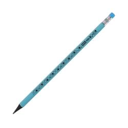 Ołówek trójkątny z gumką niebieski pastelowy Easy