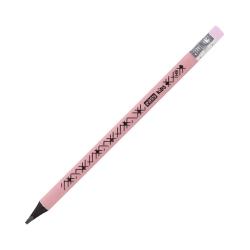 Ołówek trójkątny JUMBO z gumką różowy pastelowy Easy