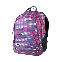 Plecak szkolny FLOW 26l fioletowy w kropki Easy