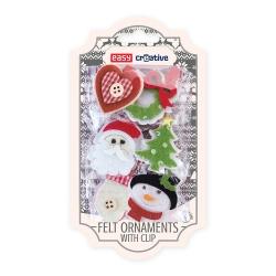 Ozdoby świąteczne z filcu z klipsem Easy