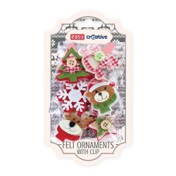 Ozdoby świąteczne z filcu z klipsem 6szt Easy