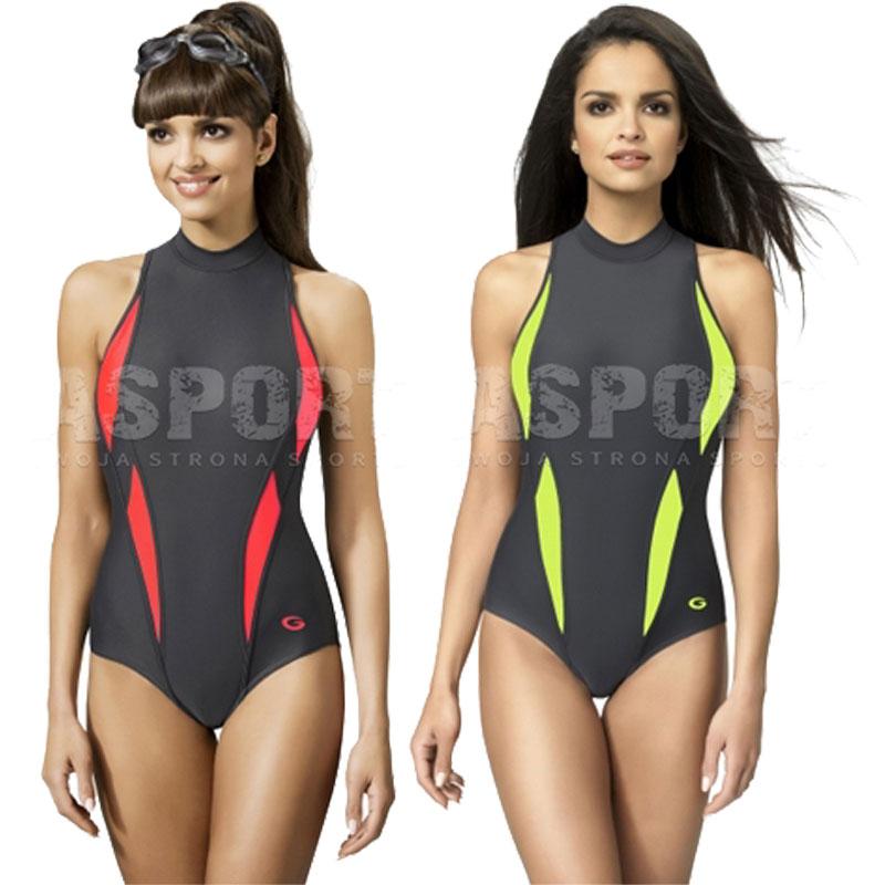 Das Bild wird geladen AQUA-SPORT-Gwinner-Badeanzug-mit-Bein-Damen- Schwimmanzug- 1a2f06dabf