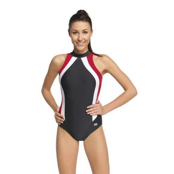 Badeanzug Damen Schwimmanzug einteiliger OLIVIA Aqua-Speed 38-48