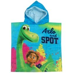 Ręcznik poncho, z kapturem, 100% bawełna 50x100 cm DOBRY DINOZAUR