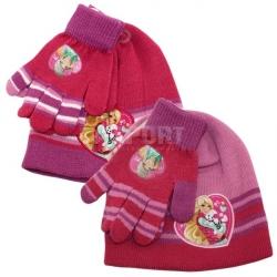 Komplet dziecięcy: czapka + rękawiczki pink BARBIE