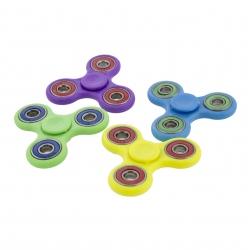 Fidget spinner plastikowy, zabawka obrotowa, zręcznościowa niebieski