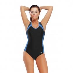 Strój kąpielowy damski DORA czarno-niebieski Gwinner
