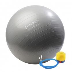 Piłka gimnastyczna, fitness, do ćwiczeń YB02 55cm + pompka HMS grafitowa