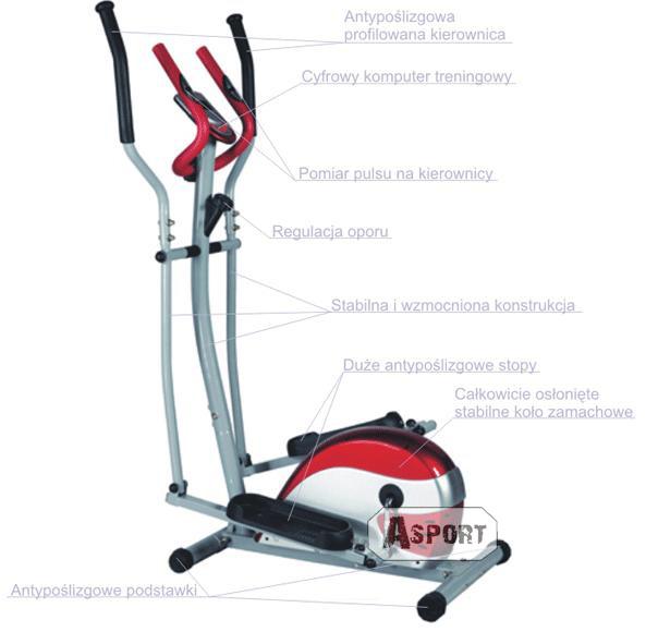 Orbitrek magnetyczny HS-4030 IMPACT czarno/grafitowy Hop-Sport