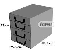 Ozdobne pudełko kartonowe z 4 szufladami BAROKOWE KWIATY BIAŁE Miss Space