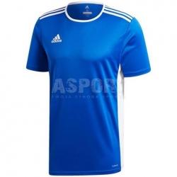 Koszulka piłkarska, do gry w piłkę nożną, sportowa ENTRADA18 JUNIOR blue Adidas