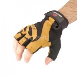 Rękawiczki treningowe, kulturystyczne, skóra syntetyczna GRIP 80 Meteor