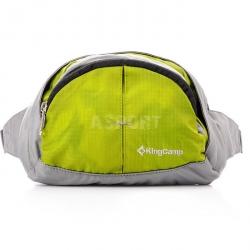 Saszetka biodrowa, podróżna, na rower, na jogging FIREFLY zielona KingCamp