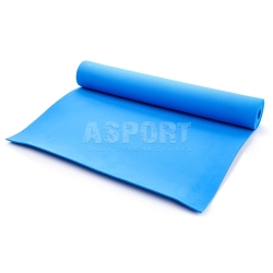 Mata do ćwiczeń, jogi, fitness 173x61 YOGA niebieska Meteor