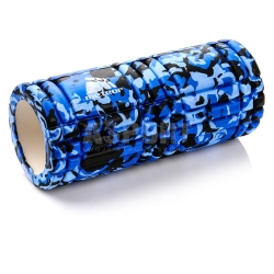 Roller, wałek do ćwiczeń fitness, do masażu 33 cm Meteor niebieski moro