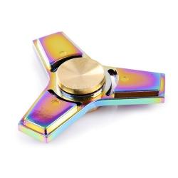 Fidget spinner metalowy, zabawka obrotowa NEON CHROME EDGE + puszka