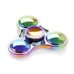 Fidget spinner metalowy, zabawka obrotowa UFO NEO CHROME + puszka