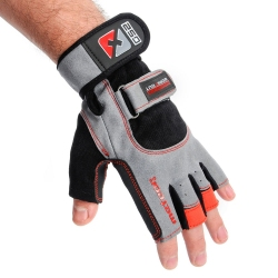 Rękawiczki kulturystyczne GRIP WRIST 250 Meteor