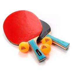 Zestaw do tenisa stołowego 2 rakietki ZEPHYR* + 3 piłeczki Meteor