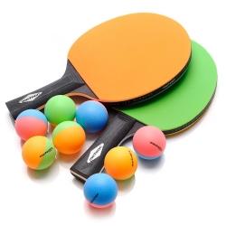 Zestaw do tenista stołowego RAINBOW 2 rakietki + 8 piłeczek