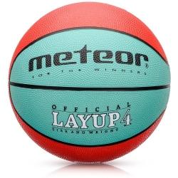Piłka koszowa LAYUP #4 czerwono-zielona Meteor
