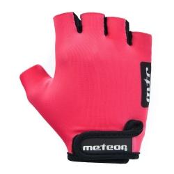 Rękawiczki rowerowe JUNIOR PINK Meteor