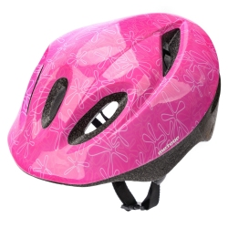Kask dziecięcy, ochronny, rowerowy, na rolki KS05 różowy Meteor