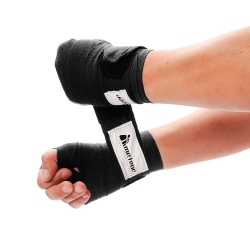 Bandaż bokserski 2,8 m 2 szt. czarny
