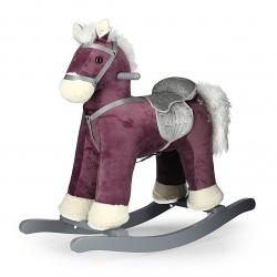 Koń na biegunach, bujany PEPE ciemnofioletowy Milly Mally